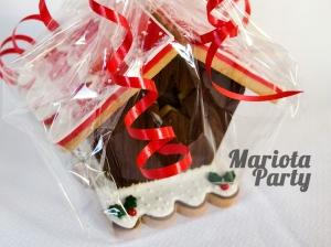 Casita de galletas navideñas