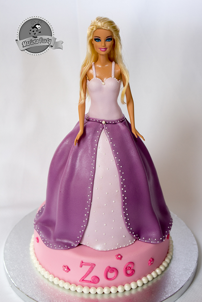 Pastel de princesa Barbie
